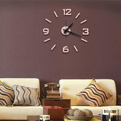 Super silent large decorative wall clocks home decor diy clocks living room mural wall sticker