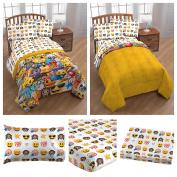 Emoji Reversible Bedding Comforter Set for Kids - Twin