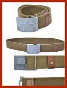 July 4th Sale !! soviet surplus New WW2 Soviet vintage Soldier tarpaulin field belt USSR Russian aluminium buckle
