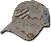 Rapiddominance A03-1TSA-DES Relaxed Graphic Cap, Tonal Flag, Desert, Desert Digital