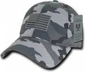 Rapiddominance A03-1TSA-URB Relaxed Graphic Cap, Tonal Flag, Urban