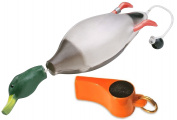 Mallard Training Dummy And Pro Whistle For Shed Hunting Dogs (Orange) By Dokken D100/W100