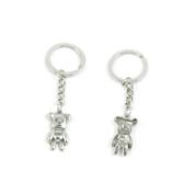 1 x Keychain Keyring Key Ring Chain Jewellery Findings G9MK3 Lady Bear Winne