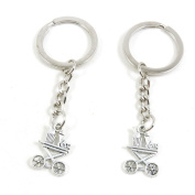 50 x Keychain Keyring Key Ring Chain Jewellery Findings B7NG6 Dining Diner Car