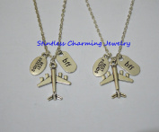 Travel Jewellery, Plane Necklace, Aircraft Jewellery, Flying Pendant,aircraft necklace, bff necklace, sister, friendship jewellery