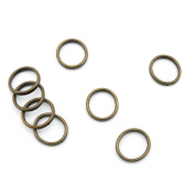 Price per 170 Pieces Jewellery Making Supply Charms Findings Filigrees D1RW6V Jump Ring 18mm Antique Bronze Findings Beading Craft Supplies Bulk Lots