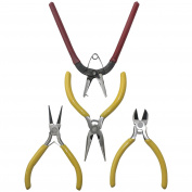 Funshowcase Crafting Pliers and Punch Set for Jewellery Making Metal Resin Epoxy Crafting 10cm Set