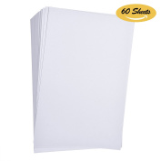 Hotop Watercolour Paper Bulk Pack, 44kg 230 gsm, Cold Press Ready Cut 15cm by 23cm , 60 Sheets
