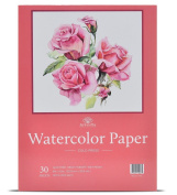 30 Sheets 9 X 12 Watercolour Pad (60kg/300gsm) Fold Over Design Cold Press Watercolour Paper