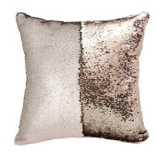 Pillow Case,FeiXiang 2017 DIY Two Tone Glitter Sequins Throw Pillows Decorative Cushion Case Sofa Car Covers