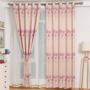 Curtains Super Soft Solid Thermal Insulated Blackout Curtains Noise Reduction Anti-UV Curtains Thickened Polyester Curtains Bedroom Living Room Balcony Perforated Curtains (one pair)