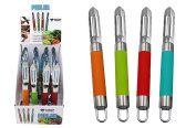 Diamond Visions 01-1795 Kitchen Peeler with Silicone Handle MultiPack in Assorted Colours