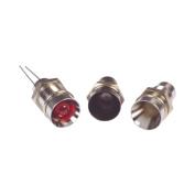 Led Light Red Recessed Panel Bezel Chrome 5mm 2v 30a Washer Locking Nut New