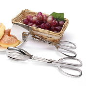 Stainless Steel Scissors Tongs Grill Food Clip Buffet Party Bread Salad Meat Clip