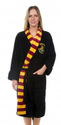 Womens Black Harry Potter Hogwarts Dressing Gown