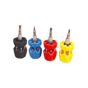 7-in-1 Stubby Screwdriver Red Pozi/yellow Phillips/blk Star Or Blue Slotted Bit