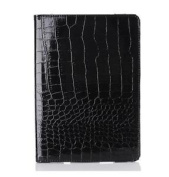 Ipad Air Retina Leather Crocodile Case Cover Stand Screen Protector Smart Black