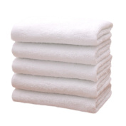 Wicemoon Set of 5 Cotton Towels Hand Bath Bath Sheet Disposable Towels for Travel