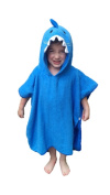 Hudz Kidz SOFTEST QUICK DRY Hooded Kids Shark Towel for Toddlers, Kids - 5T w/ 100% Cotton Gently Snuggles Kids Dry After Bath, Pool, Beach. Adorable Hood for a Long Lasting Baby Shower Gift Moms Love
