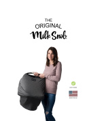 """AS SEEN ON SHARK TANK The Original Milk Snob Infant Car Seat Cover and Nursing Cover Multi-Use 360° Coverage Breathable Stretchy """"Slate"""""""