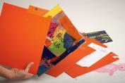 Back-to-School Kids Organisational Box - Custom-dyed Cloth Cover + Handmade & Acid-Free for Durability - Looks Like Books w/ Full Keepsake Organisation System; holds School Work, Art, Awards