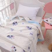 J-pinno Baby Milk Cow Nursery Muslin Cotton Bed Quilt Blanket Crib Coverlet 110cm X 120cm