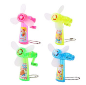 Set of Four Creative Small Toys Mini Manual Small Fan