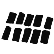 Sports Training Stretchy Finger Sleeve Protector Guard Black 10Pcs