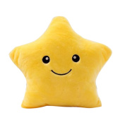 Didihou Glowing Plush Toys Pillow Decorative Colourful LED Night Light Twinkle Star Stuffed Toy for Kids