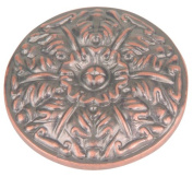 Atlas Homewares 138-C 3.8cm The Classics Collection Ornate Small Round Hammered Knob, Copper