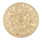 Atlas Homewares 138-B 3.8cm The Classics Collection Ornate Small Round Hammered Knob, Satin Brass
