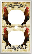 COUNTRY ROOSTER PRIMITIVE KITCHEN DECOR LIGHT SWITCH COVER PLATE OR OUTLET