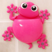 Cute Gecko Kids Silicone Toothbrush Toothpaste Holder Family Set Wall Mounted Suction Cup Bathroom Hanger Decor