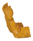 Atlas 772 Nitrile Coated Gloves 70cm Long Cotton Lined, Chemical Resistant, Water, Pond, Work, Medium
