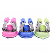 Scomfy Broom and Mop Holder,Pack Of 3, Super Powerful Vacuum Suction Cup Stainless Steel,Pink,Blue,Green Colours