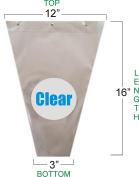 Flower Bouquet Unprinted 37 Micron Clear Plastic Sleeve Bag 50 Pcs 12x16x3