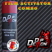 Combo Kit Carbon Fibre Weave Hydrographic Water Transfer Film Activator Combo Kit Hydro Dipping Dip Demon