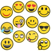 ONINIT 24pcs/pack 5 CM Emoji Emoticon Face Iron On Applique Patches for Clothes
