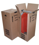 4 x Large Strong Wardrobe / Garment Double Wall Removal Boxes