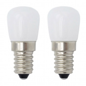 E14 LED Bulb/[2 Pack]SFTlite E14 SES LED Pygmy Light Bulb 1.5W 120LM LED Energy Saving Bulbs With Super Bright Warm White Small Edison Screw LED Lamps [Equivalent to 15W Halogen Bulb - AC 220-240V Non Dimmable] E14 LED Pygmy Bulb for Refrigerator/ Micr ..