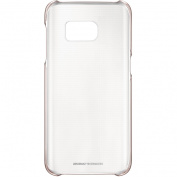 for Samsung Original Cover For Galaxy S7 Edge Clear Case - Rose Gold/clear