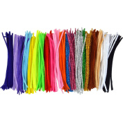 Pistha 400Pcs Pipe Cleaners Chenille Stem 6mm x 12 Inch Reusable Craft Bendable Twistable Children Puzzle Kindergarten Handmade DIY Art Supplies Home Decor Assorted Colours Assorted Colours