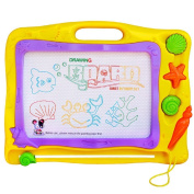 Magnetic Drawing Board, HALOFUN Colourful Magna Doodle Writing Sketch Pad Toys for Kids