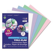 Tru-Ray Construction Paper, 34kg., 9 X 12, Assorted Pastel, 50 Sheets/Pack, One random colour will be shipped