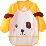 TRIEtree Unisex Infant Toddler Waterproof Apron Waterproof Anti dressing Baby Bib for Baby Feeding Eating Playing
