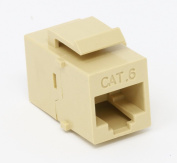 RiteAV Cat6 Ethernet Keystone Jack Coupler Female to Female Beige