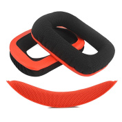 Geekria Replacement Earpads Ear Pads Cushions for Logitech G430 G930 Headphones + Replacement Headband / Cushion Pad Repair Parts