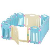 Baby Playpen Kids 14 Panel Safety Play Centre Yard Home Indoor Outdoor Pen