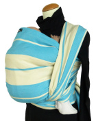 DIDYMOS Baby Standard Stripe Sling, Turquoise, Size 7