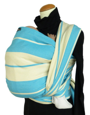DIDYMOS Baby Standard Stripe Sling, Turquoise, Size 6
